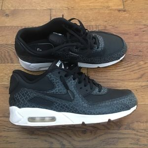 Nike Air Max 1 FB, Dark Grey Leopard, size 9.